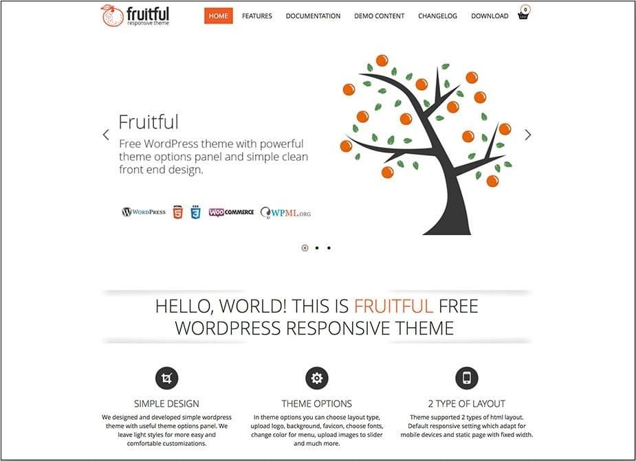 Fruitful WordPress Ecommerce Theme