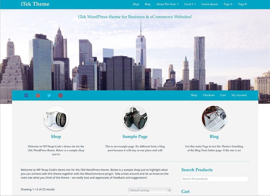 iTek Bootstrap ECommerceTheme