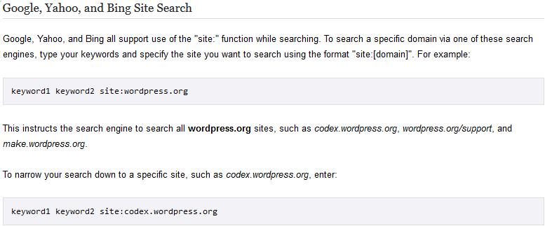 WordPress Help from Google.com
