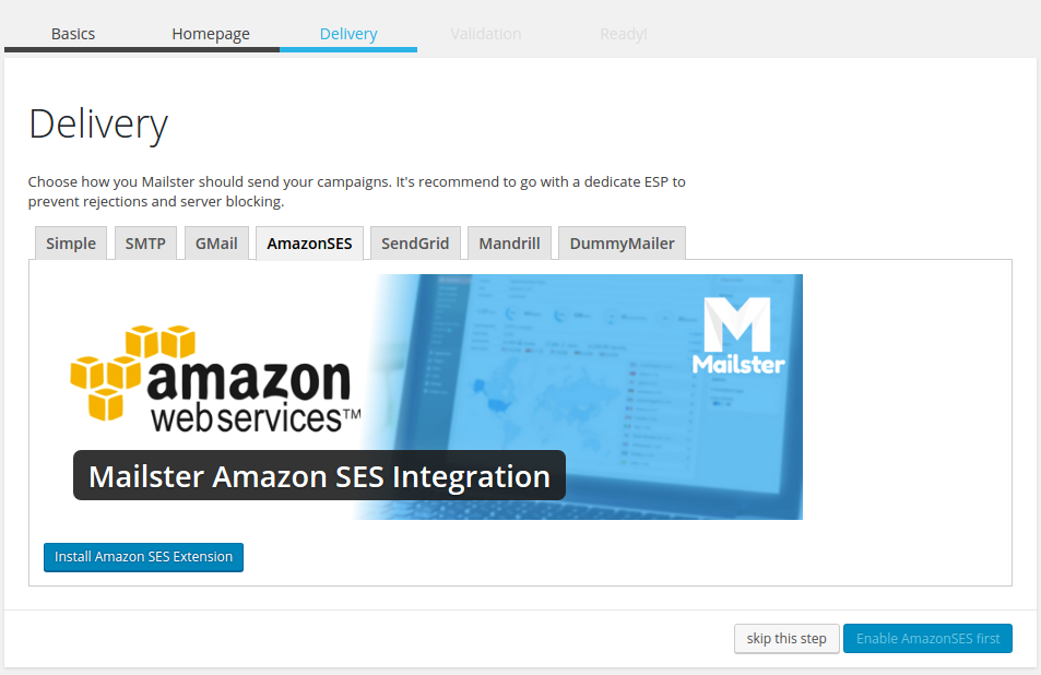 amazon mailster integration