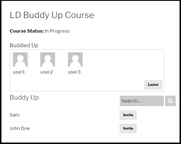 LearnDash Buddy Up Group