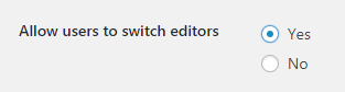 switch editors settings