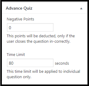Time Limit & Negative Marking