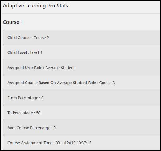Adaptive Learning Pro Stats