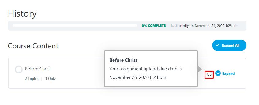 assignment deadlines
