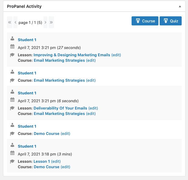 learndash propanel activity