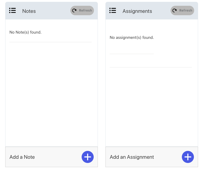 share notes and assignments